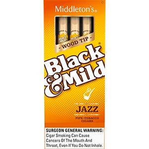 Black and Mild Wood Tip Jazz Singles