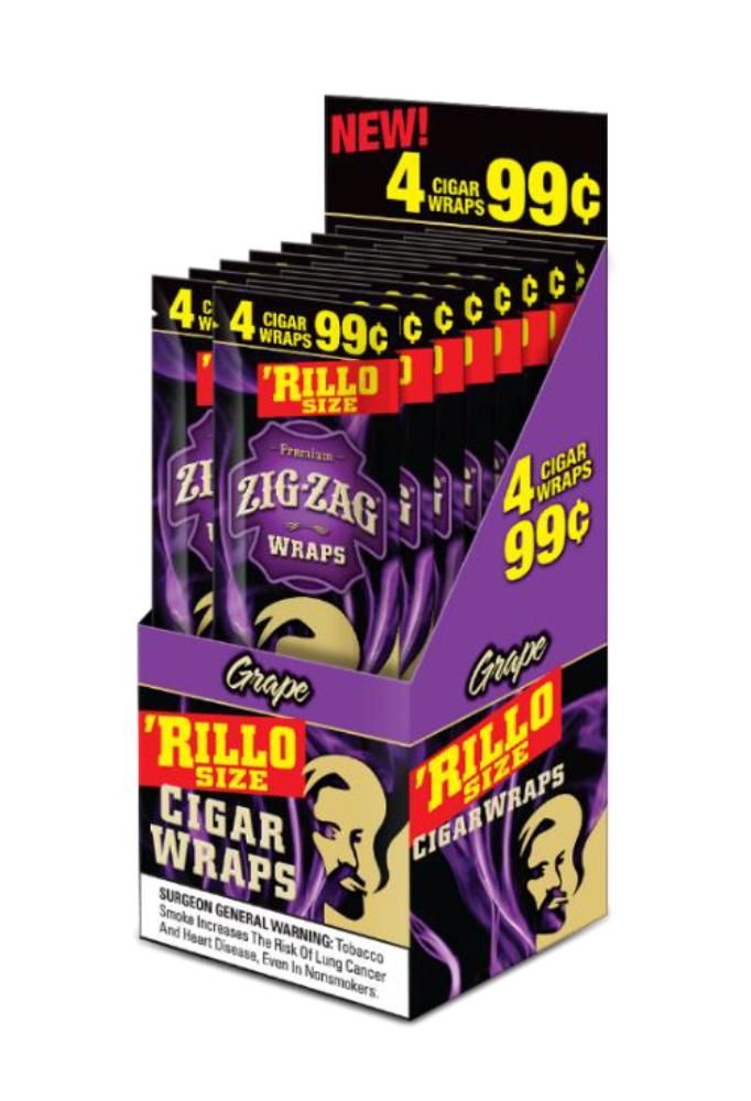 Zig Zag Rillo Wraps Grape