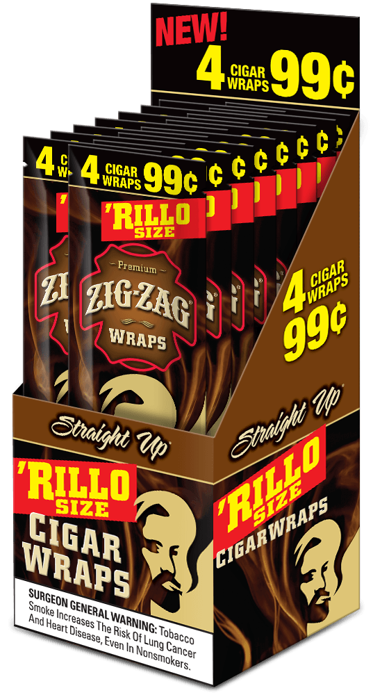 Zig Zag Rillo Wraps Straight Up