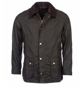Barbour MEN - OUTERWEAR - JACKETS Barbour, Ashby Wax Jacket, Olive