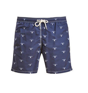Barbour SALE Barbour, Beacon Print Swim Short, Navy