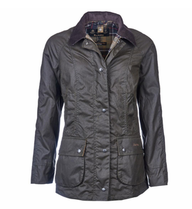Barbour WOMEN - OUTERWEAR - JACKETS Barbour, Classic Beadnell Wax Jacket, Olive