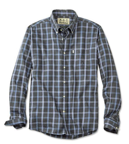 Barbour MEN - SHIRTS - BUTTON DOWNS Barbour, Keenan Wool Mix Tailored Shirt, Mid Charcoal