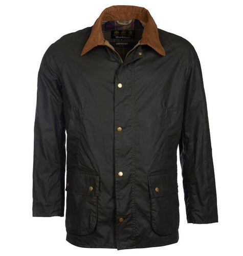 Barbour MEN - OUTERWEAR - JACKETS Barbour, Lightweight Ashby Wax Jacket, Dark Olive