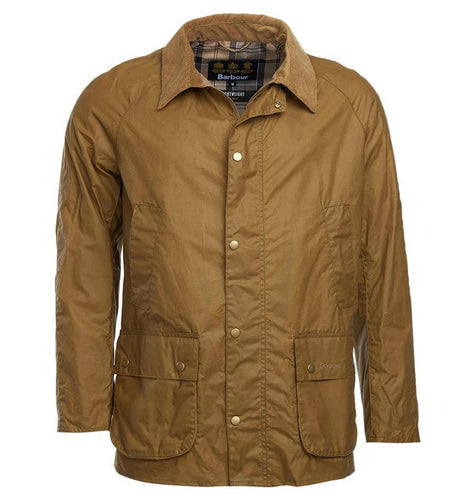 Barbour MEN - OUTERWEAR - JACKETS Barbour, Lightweight Ashby Wax Jacket, Sand