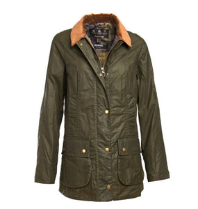 Barbour WOMEN - OUTERWEAR - JACKETS Barbour, Lightweight Beadnell Wax Jacket, Archive Olive