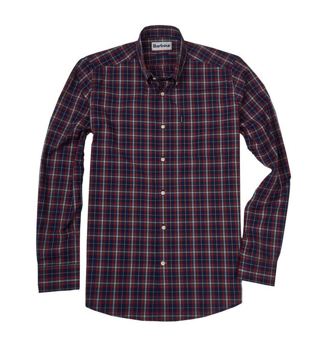 Barbour MEN - SHIRTS - BUTTON DOWNS Barbour, Stapleton Highland Check Tailored Shirt, Navy
