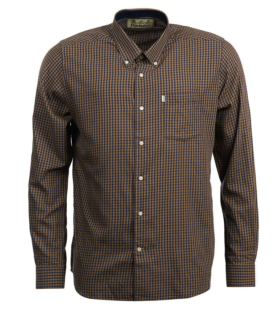 Barbour MEN - SHIRTS - BUTTON DOWNS Barbour, Swinley Wool Mix Tailored Shirt, Sandstone