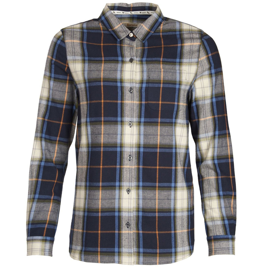 Barbour WOMEN - SHIRTS - BLOUSES Barbour, Ullswater Shirt, Navy/Marmalade