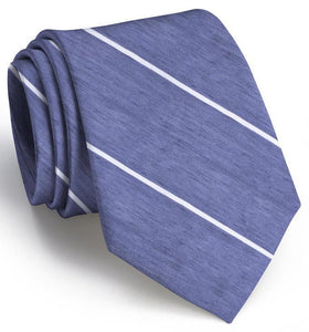 Bird Dog Bay ACCESSORIES - NECKWEAR - TIES Bird Dog Bay, A Thin White Line Tie, Navy/White