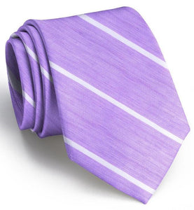 Bird Dog Bay ACCESSORIES - NECKWEAR - TIES Bird Dog Bay, A Thin White Line Tie, Violet/White
