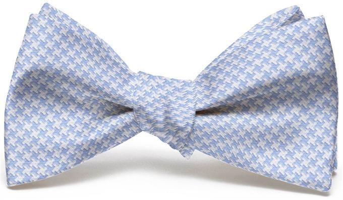 Bird Dog Bay ACCESSORIES - NECKWEAR - BOWTIES Bird Dog Bay, Houndstooth Bow Tie, Light Blue