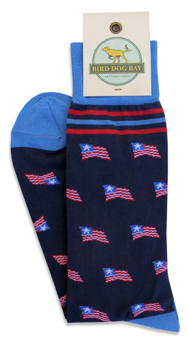 Bird Dog Bay FOOTWEAR - SOCKS - DRESS SOCKS Bird Dog Bay, Old Glory Socks, Navy
