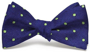 Bird Dog Bay ACCESSORIES - NECKWEAR - BOWTIES Bird Dog Bay, Spot On Bow Tie, Dark Blue/Lime