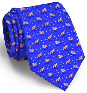 Bird Dog Bay ACCESSORIES - NECKWEAR - TIES Bird Dog Bay, Stars & Stripes Tie, Blue