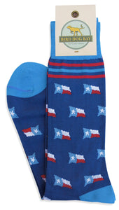 Bird Dog Bay FOOTWEAR - SOCKS - DRESS SOCKS Bird Dog Bay, Texas Time Socks, Blue