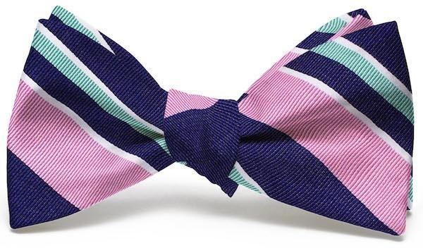Bird Dog Bay ACCESSORIES - NECKWEAR - BOWTIES Bird Dog Bay, Wayfair Stripe Bow Tie, Navy/Pink