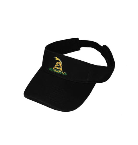 Smathers & Branson ACCESSORIES - HATS - VISORS Black / OS Smathers & Branson, Gadsden Flag Needlepoint Classic Visor