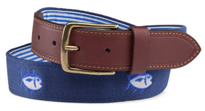 Southern Tide ACCESSORIES - BELTS - NEEDLEPOINT Blue / 32 Southern Tide, Embroidered Skipjack Belt, Yatch Blue