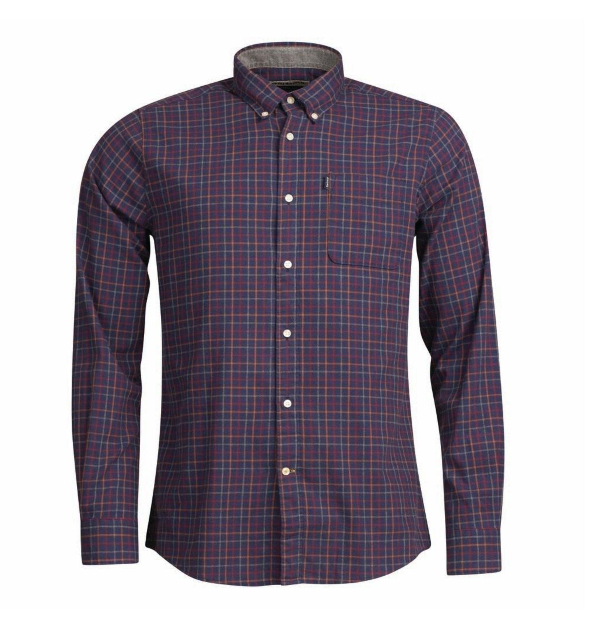Barbour, Endsleigh Tattersall Tailored Shirt, Navy