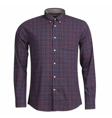Barbour SALE Blue / XL Barbour, Endsleigh Tattersall Tailored Shirt, Navy