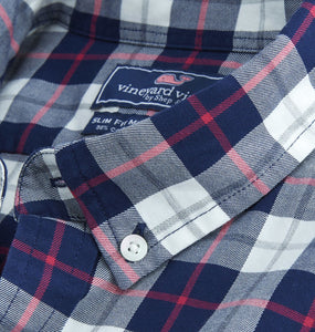 Vineyard Vines MEN - SHIRTS - BUTTON DOWNS Blue / XXL Vineyard Vines, Riverbank Plaid Slim Murray Shirt, Katama Bay