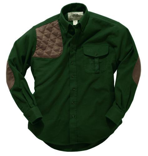 Boyt Harness Company MEN - SHIRTS - BUTTON DOWNS Boyt, Moleskin Hunting Shirt, Dark Olive