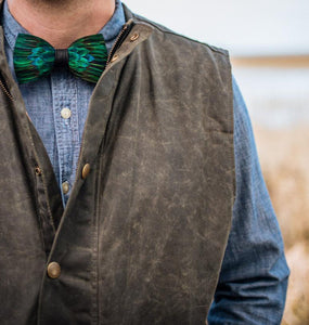 Brackish ACCESSORIES - NECKWEAR - BOWTIES Brackish, Chisolm Bow Tie, Peacock Feathers