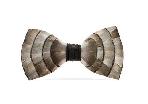Brackish ACCESSORIES - NECKWEAR - BOWTIES Brackish, Lynx Bow Tie, Pheasant Feathers