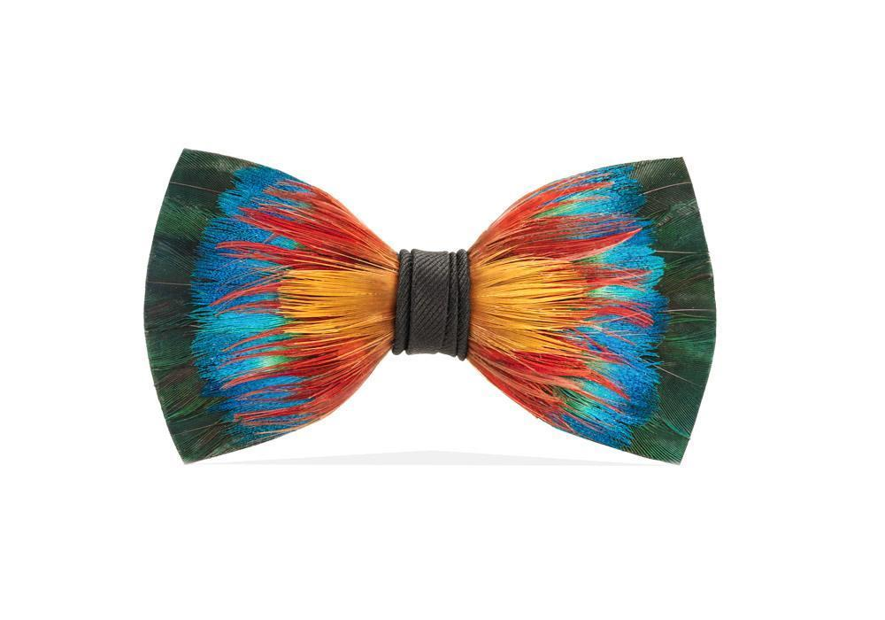 Brackish ACCESSORIES - NECKWEAR - BOWTIES Brackish, Spectrum Bow Tie, Pheasant/Peacock Feathers