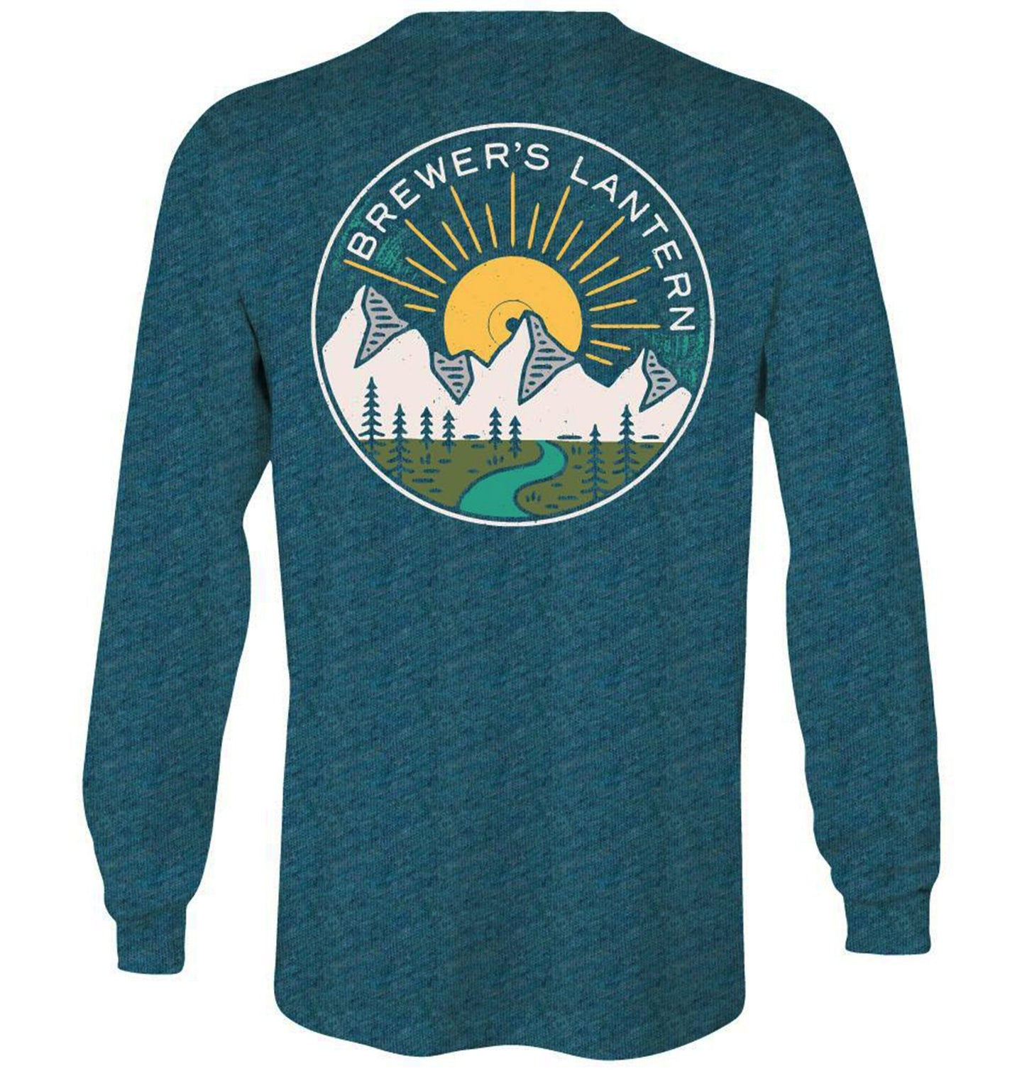 Brewer's Lantern MEN - SHIRTS - LONG SLEEVE T-SHIRTS Brewer's Lantern, Mountain Music Long Sleeve T-Shirt, Salt Lake