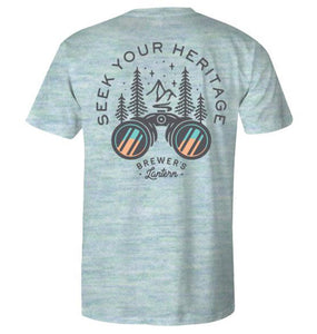 Brewer's Lantern SALE Brewer's Lantern, Seek Your Heritage Short Sleeve T-Shirt, Cloud Blue
