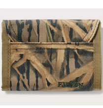 Load image into Gallery viewer, Filson ACCESSORIES - WALLETS - BIFOLDTRIFOLD Brown Filson, Mossy Oak Tin Cloth Smokejumper Wallet, Shadow Grass