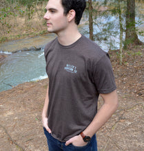 Load image into Gallery viewer, Miller's Provision Co. MEN - SHIRTS - SHORT SLEEVE T-SHIRTS Brown / M Miller's Provision Co., Trout Logo Short Sleeve T-Shirt, Heather Brown