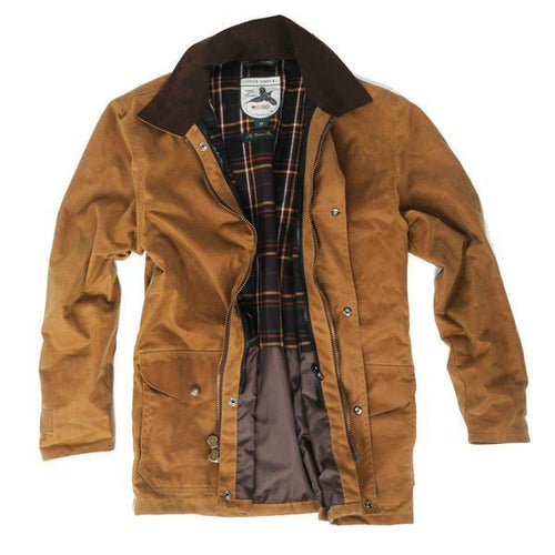 Over Under Clothing MEN - OUTERWEAR - JACKETS Brown / S Over Under Clothing, Men's Waxed Briar Jacket, Brown