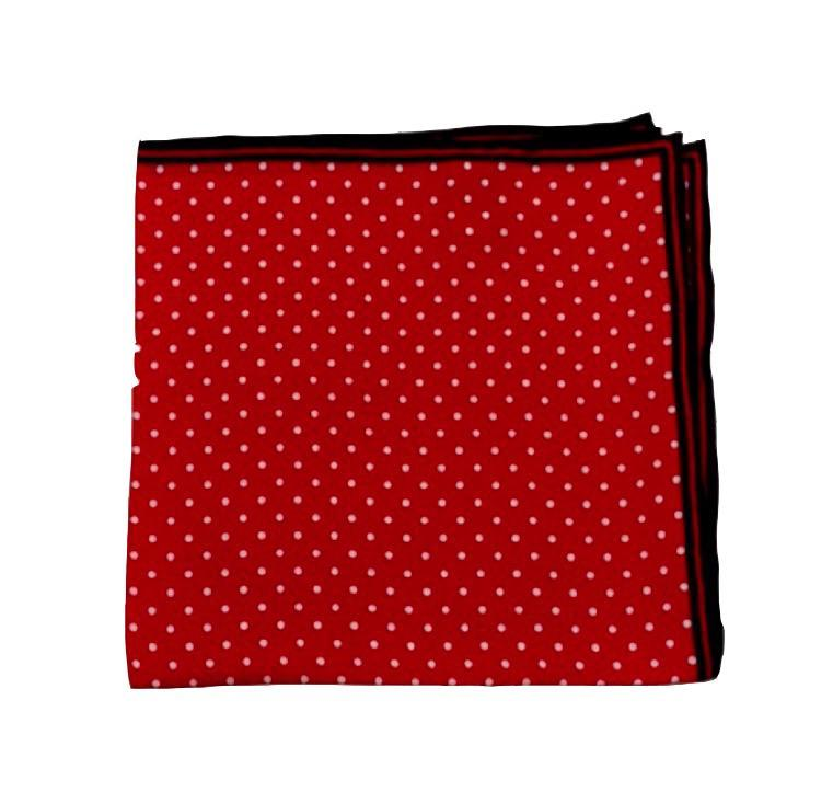 Bruno Piattelli ACCESSORIES - POCKET SQUARES Bruno Piattelli, Polka Dot Fancy Silk Pocket Square, Red