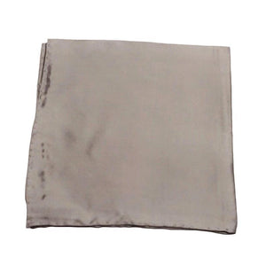Bruno Piattelli ACCESSORIES - POCKET SQUARES Bruno Piattelli, Solid Silk Pocket Square, Grey