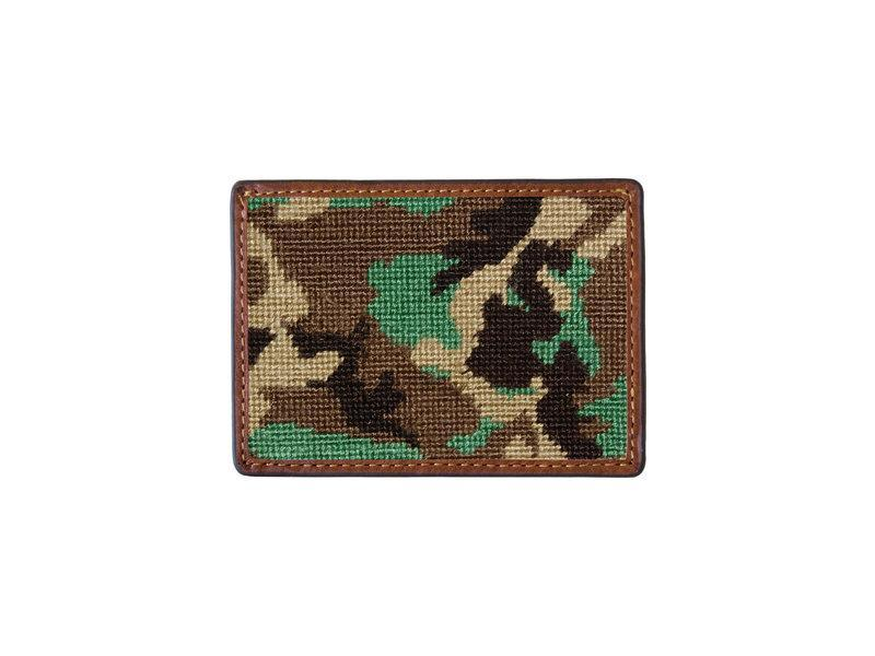 Smathers & Branson ACCESSORIES - WALLETS - CARD HOLDER Camo Needlepoint Card Wallet