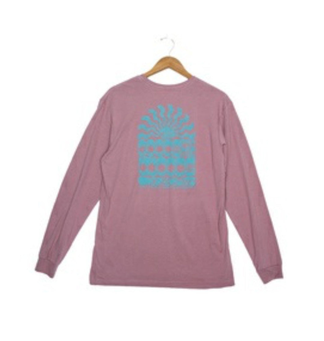 Fayettechill MEN - SHIRTS - LONG SLEEVE T-SHIRTS Fayettechill, Woody Long Sleeve T-Shirt, Wistful Mauve