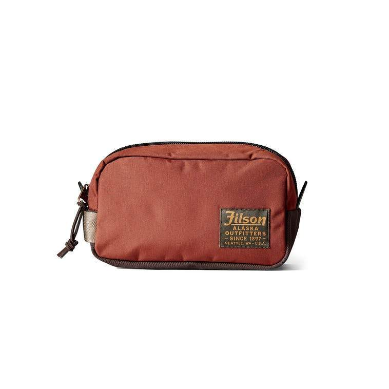 Filson ACCESSORIES - TRAVEL - SHAVE KIT Filson, Ballistic Nylon Travel Pack, Rusted Red