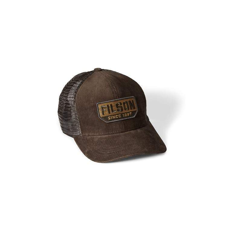 Filson ACCESSORIES - HATS - TRUCKER Filson, Corduroy Logger Mesh Cap, Brown