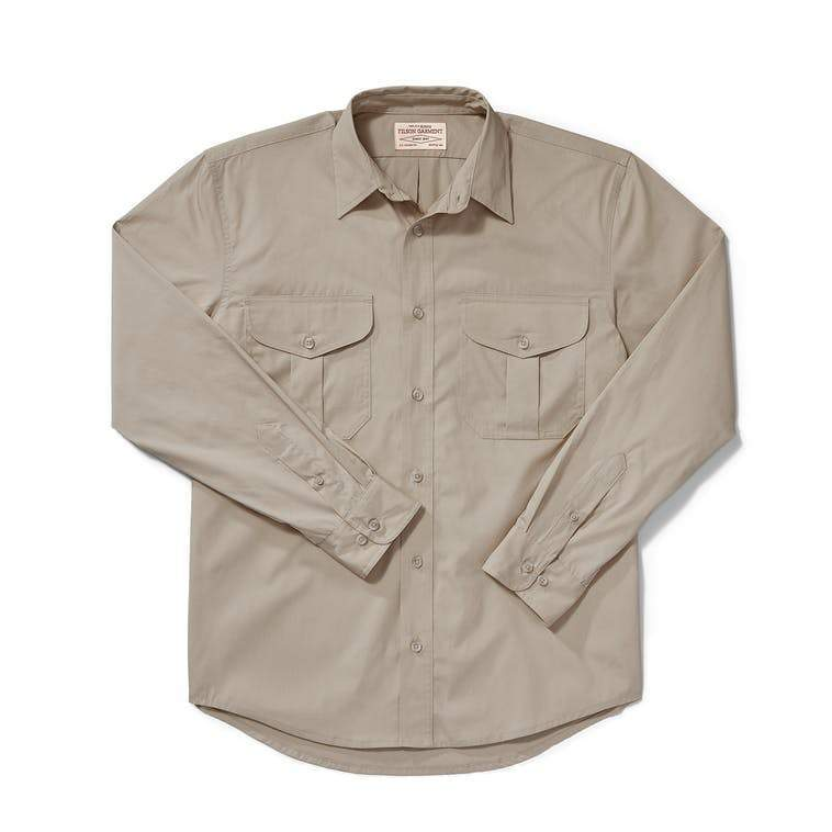 Filson MEN - SHIRTS - DRESS SHIRTS Filson, Feather Cloth Shirt, Dark Tan