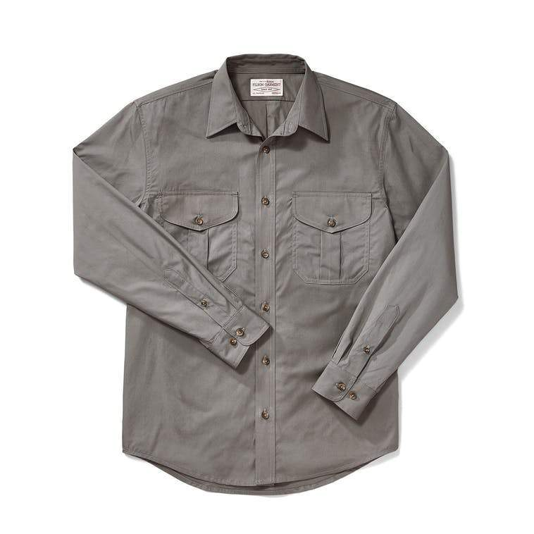 Filson MEN - SHIRTS - DRESS SHIRTS Filson, Feather Cloth Shirt, Light Olive