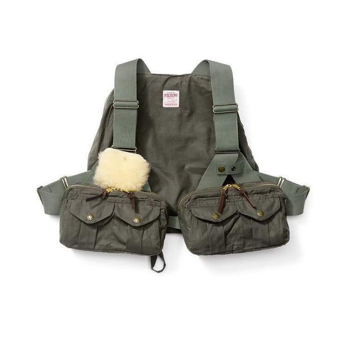 Filson FIELDDOG - HUNTING - FISHING Filson, Foul Weather Fly Fishing Vest, Otter Green