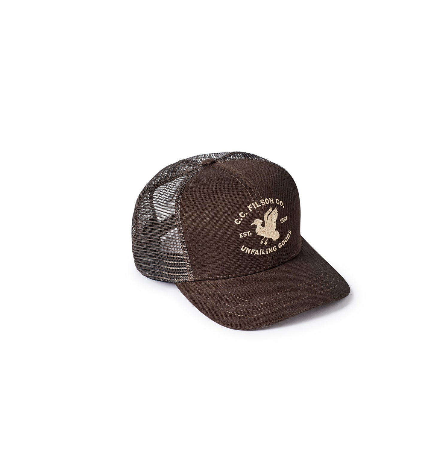 Filson ACCESSORIES - HATS - TRUCKER Filson, Highway 2 Logger Mesh Cap, Brown