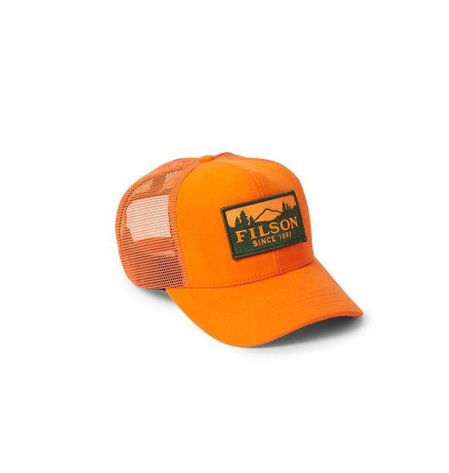 Filson ACCESSORIES - HATS - FIELD Filson, Logger Mesh Cap, Blaze Orange