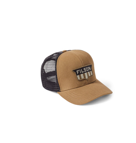 Filson ACCESSORIES - HATS - TRUCKER Filson, Logger Mesh Cap, Dark Tan