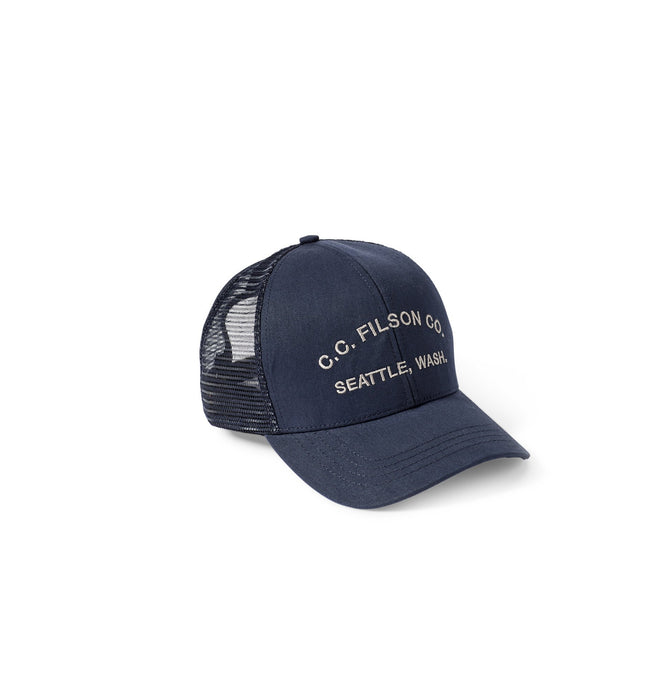 Filson ACCESSORIES - HATS - TRUCKER Filson, Logger Mesh Cap, Navy