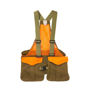 Filson FIELD - HUNTING - SHOOTING VEST Filson, Mesh Game Bag, Dark Tan/Blaze Orange
