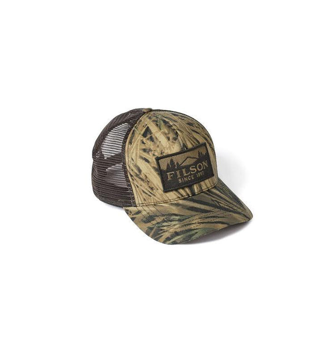 Filson ACCESSORIES - HATS - TRUCKER Filson, Mossy Oak Camo Logger Mesh Cap, Shadow Grass